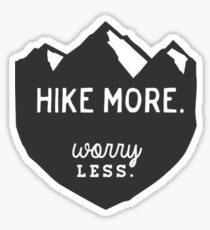 Hike More Art Sticker