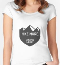Hike More Art Women's Fitted Scoop T-Shirt