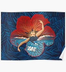 Flower Hawaii Pele Poster