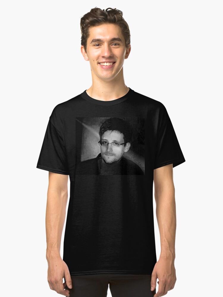 Edward Snowden Classic T-Shirt Front