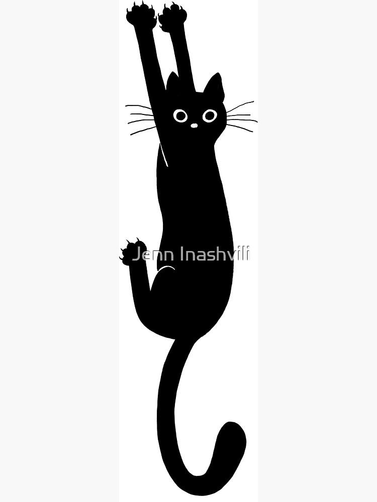 Gato negro aguantando de ShortCoffee