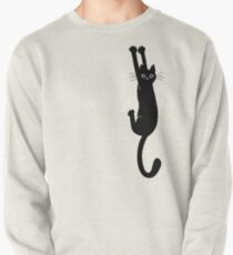 Black Cat Holding On Pullover