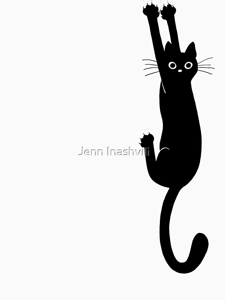 Black Cat Holding On by ShortCoffee