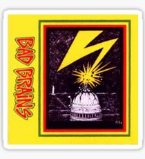 Brains Capitol Lightning Sticker