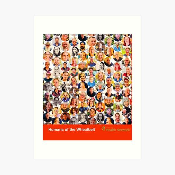 Wheatbelt Health Network, Humans of the Wheatbelt March 2021 (colours) Art Print