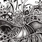 Nucleus, Ink Drawing by Danielle Scott