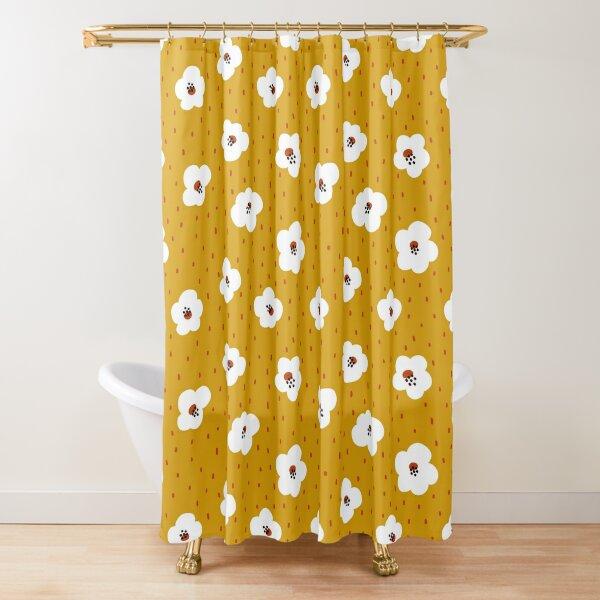 Kawaii Blumenmuster Duschvorhang