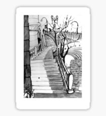 Stairs to Flinders Street Sticker