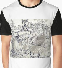 Princess Bridge Study, Melbourne Graphic T-Shirt