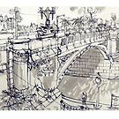 Princess Bridge Study, Melbourne by Rich McLean