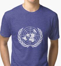 Flag of United Nations Tri-blend T-Shirt