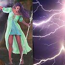 Storm Giant Leggings by KC Art