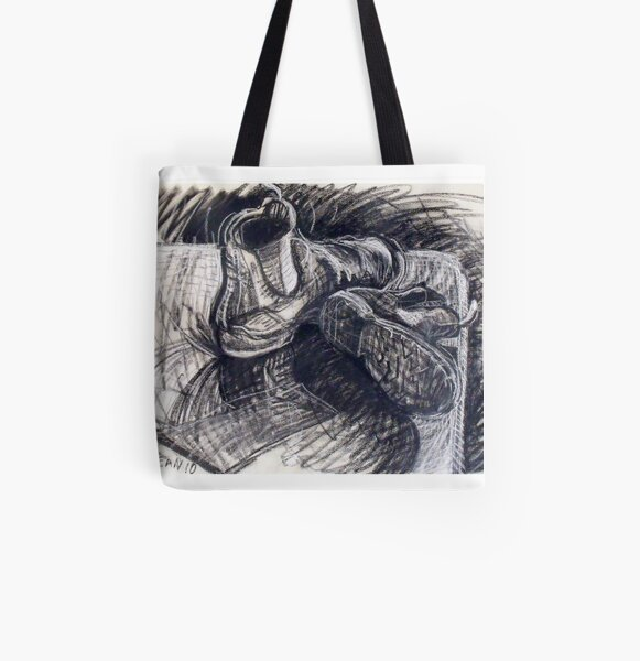 Blundstone boots see the light. All Over Print Tote Bag