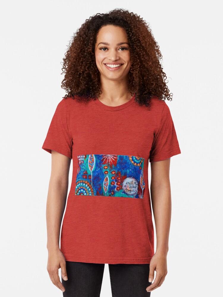 Vista alternativa de Camiseta de tejido mixto Confía en tu magia