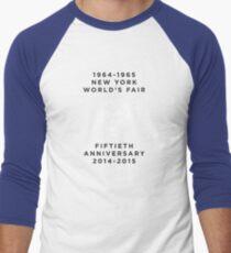 1964-1965 New York World's Fair 50th Anniversary Men's Baseball ¾ T-Shirt