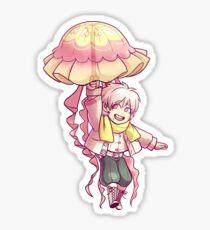 jellyfish umbrella Sticker