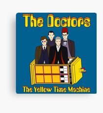 The Yellow Time Machine (Plain Background) Canvas Print