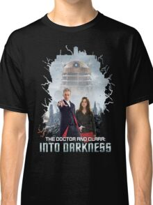 The Doctor and Clara: Into Darkness Classic T-Shirt
