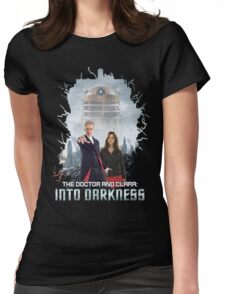 The Doctor and Clara: Into Darkness Womens Fitted T-Shirt