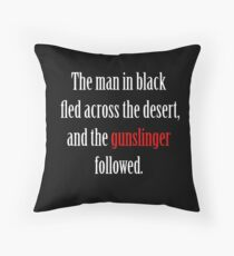 The man in black and the Gunslinger Throw Pillow