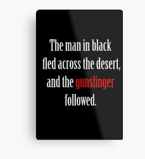 The man in black and the Gunslinger Metal Print