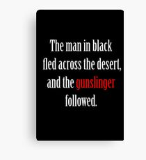 The man in black and the Gunslinger Canvas Print