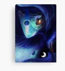 Does the Moon love the Earth Canvas Print