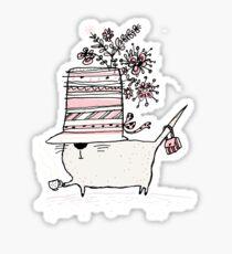 Cup of Tea Cat Sticker