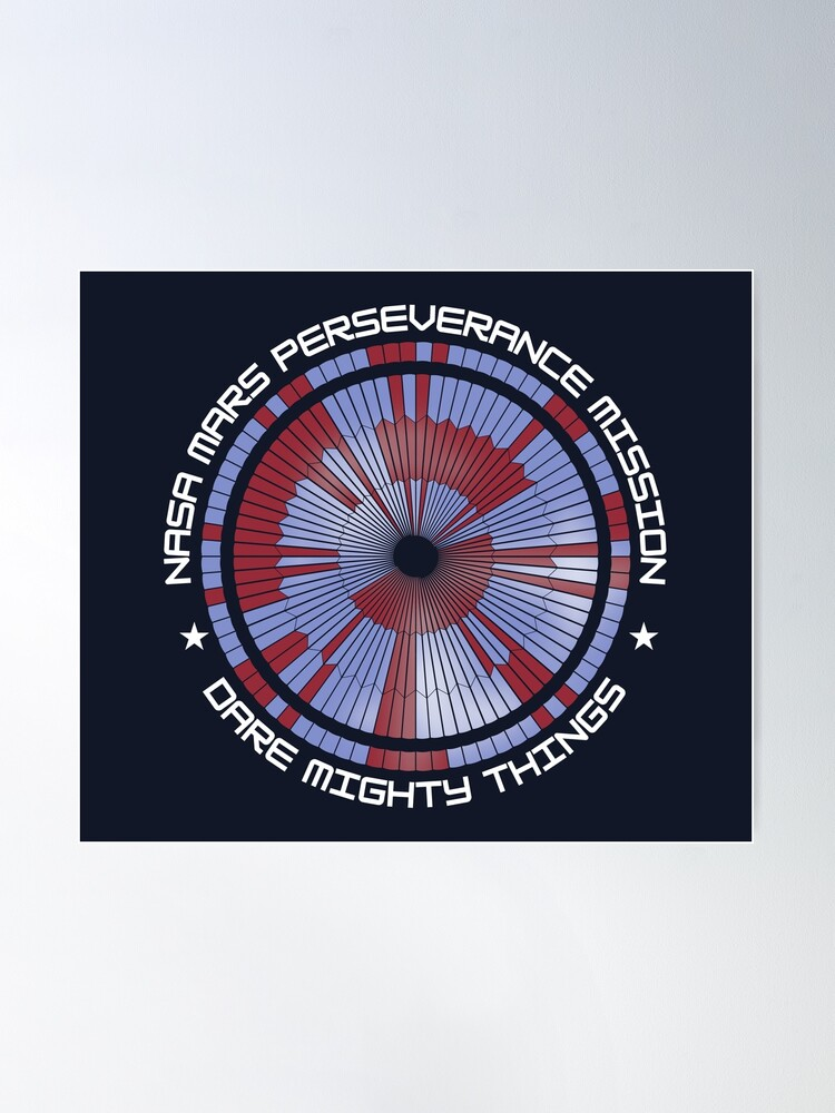 Alternate view of Mars Perseverance Parachute Hidden Message Dare Mighty Things Poster