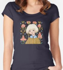 Flora - Print & Pattern Women's Fitted Scoop T-Shirt