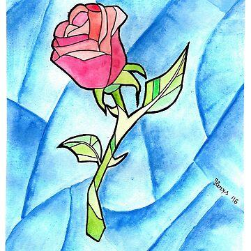 Paper Rose by ilerys