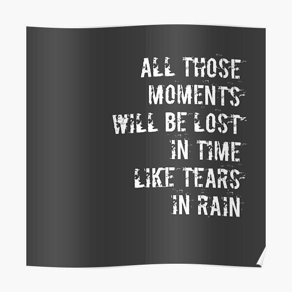 Tears in Rain Poster