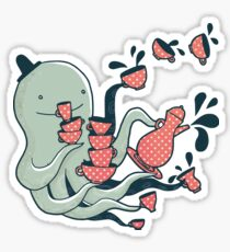 Tea and Tentacles Sticker
