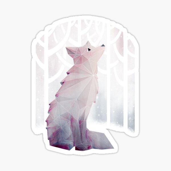 Fox in the Snow Sticker