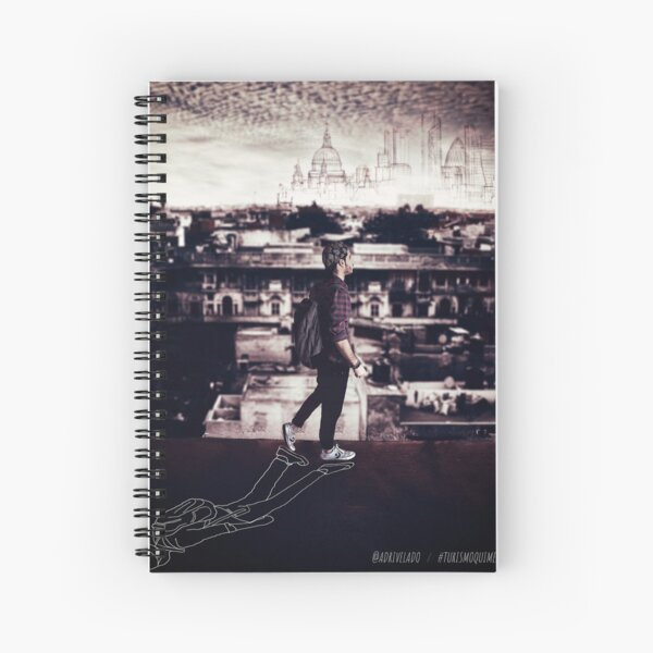 Footprints  I  Huellas Spiral Notebook