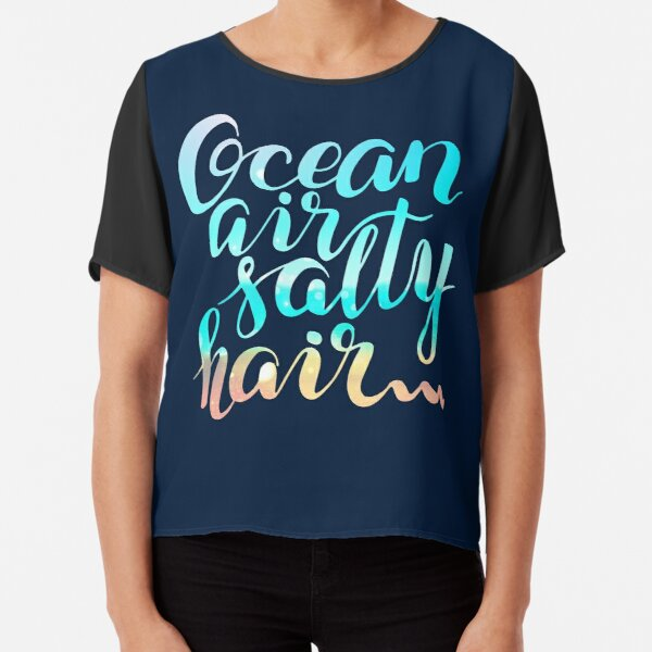 Surf lettering on a  defocus blurred summer background Chiffon Top