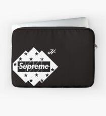 Schwarz-Weiß-Supreme-Logo Laptoptasche