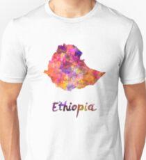Ethiopia in watercolor Unisex T-Shirt