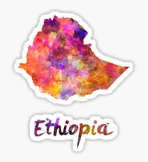 Ethiopia in watercolor Sticker