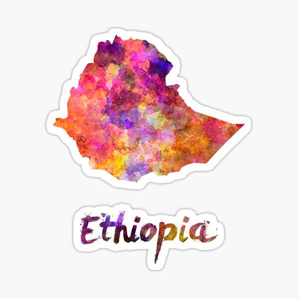 Äthiopien in Aquarell Sticker