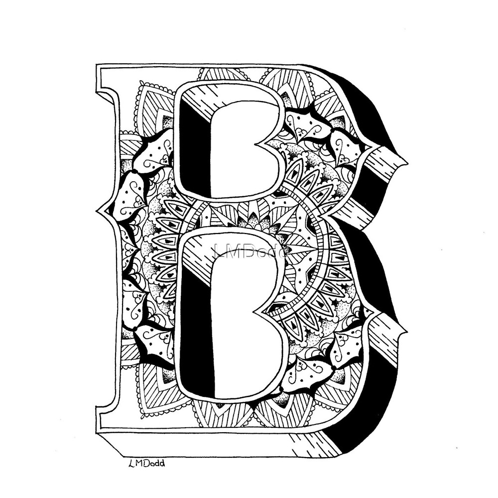 Quot B Mandala N 176 1 Inside Alphabet N 176 1 Quot By Lmdodd Redbubble