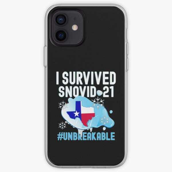 I Survived Snovid-21 Texas Snowstorm 2021 Ice Outage Hashtag Unbreakable iPhone Soft Case