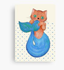 Merkitten Life Lesson #14 - You are NOT your food Canvas Print
