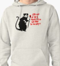 Banksy - Out of Bed Rat Pullover Hoodie