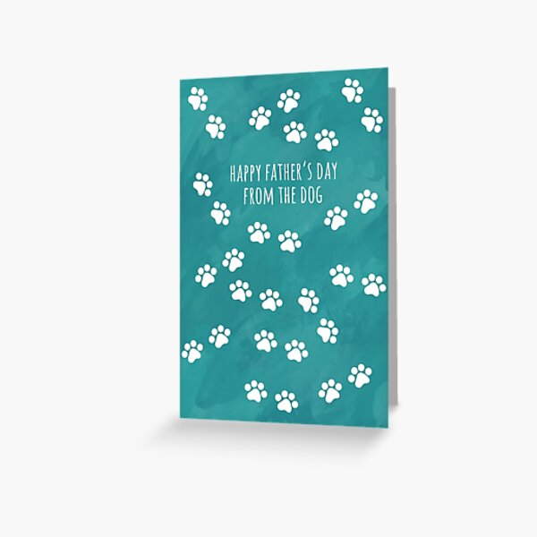 Happy Father's Day from the Dog Greeting Card