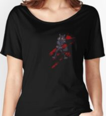 Cute anthro black wolf Women's Relaxed Fit T-Shirt