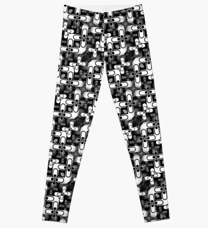 Fun with No Colours | Black and White Patterns #1 Leggings