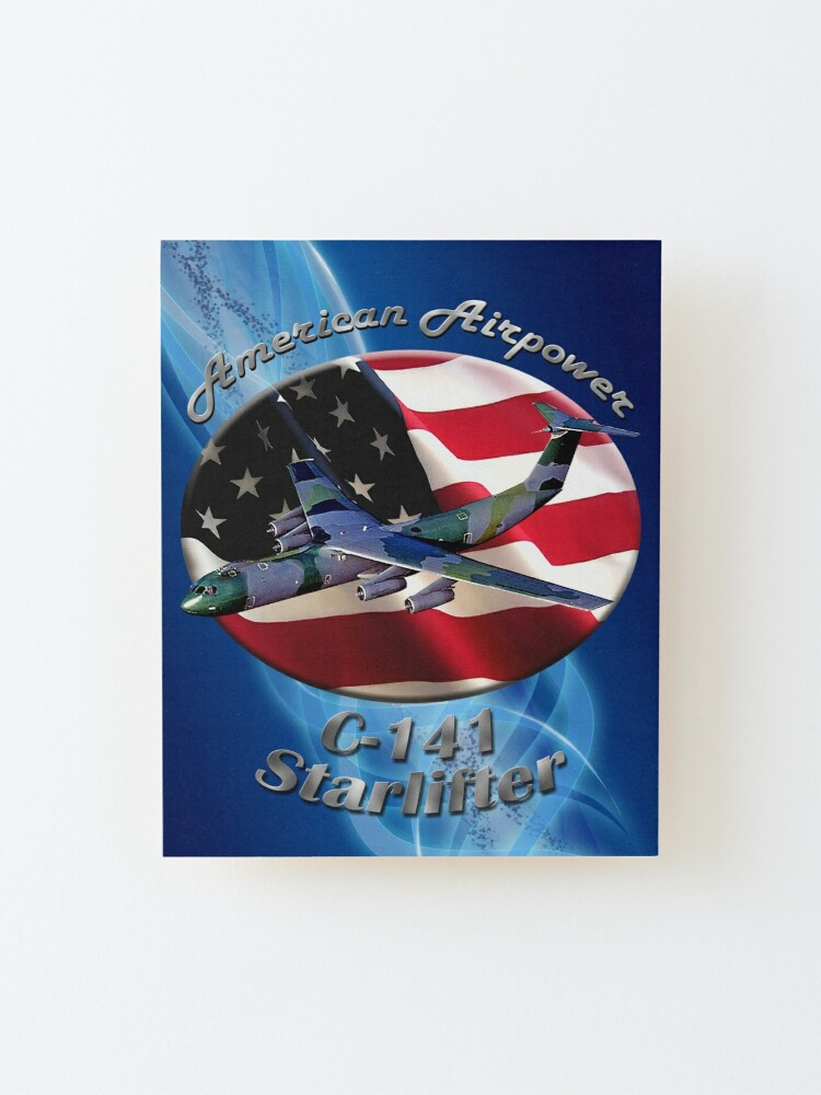 Alternate view of C-141 Starlifter American Airpower Mounted Print