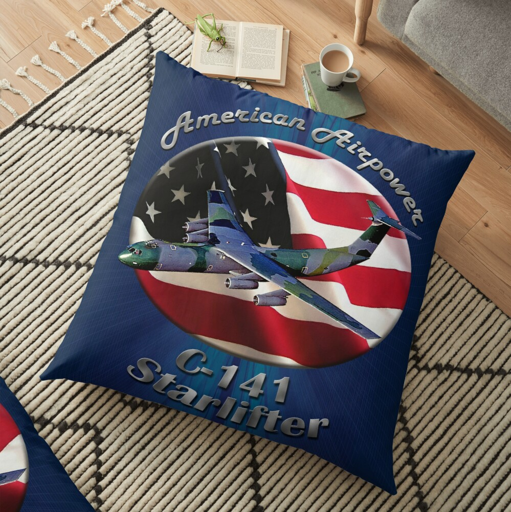 C-141 Starlifter American Airpower Floor Pillow