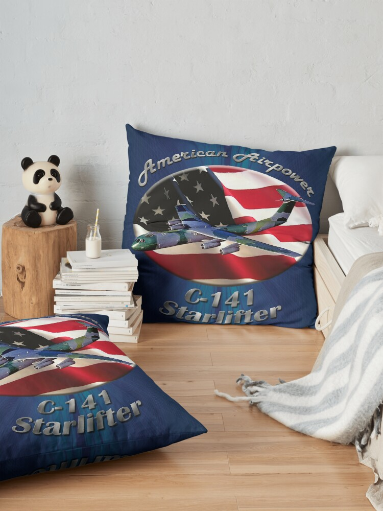 Alternate view of C-141 Starlifter American Airpower Floor Pillow